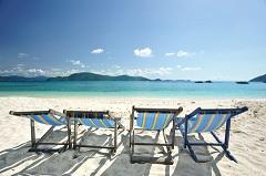 beach, sand, beach chairs