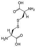 bonded cysteine molecule, disufide bonds