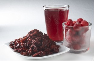 Dried and frozen cherries, cherry juice