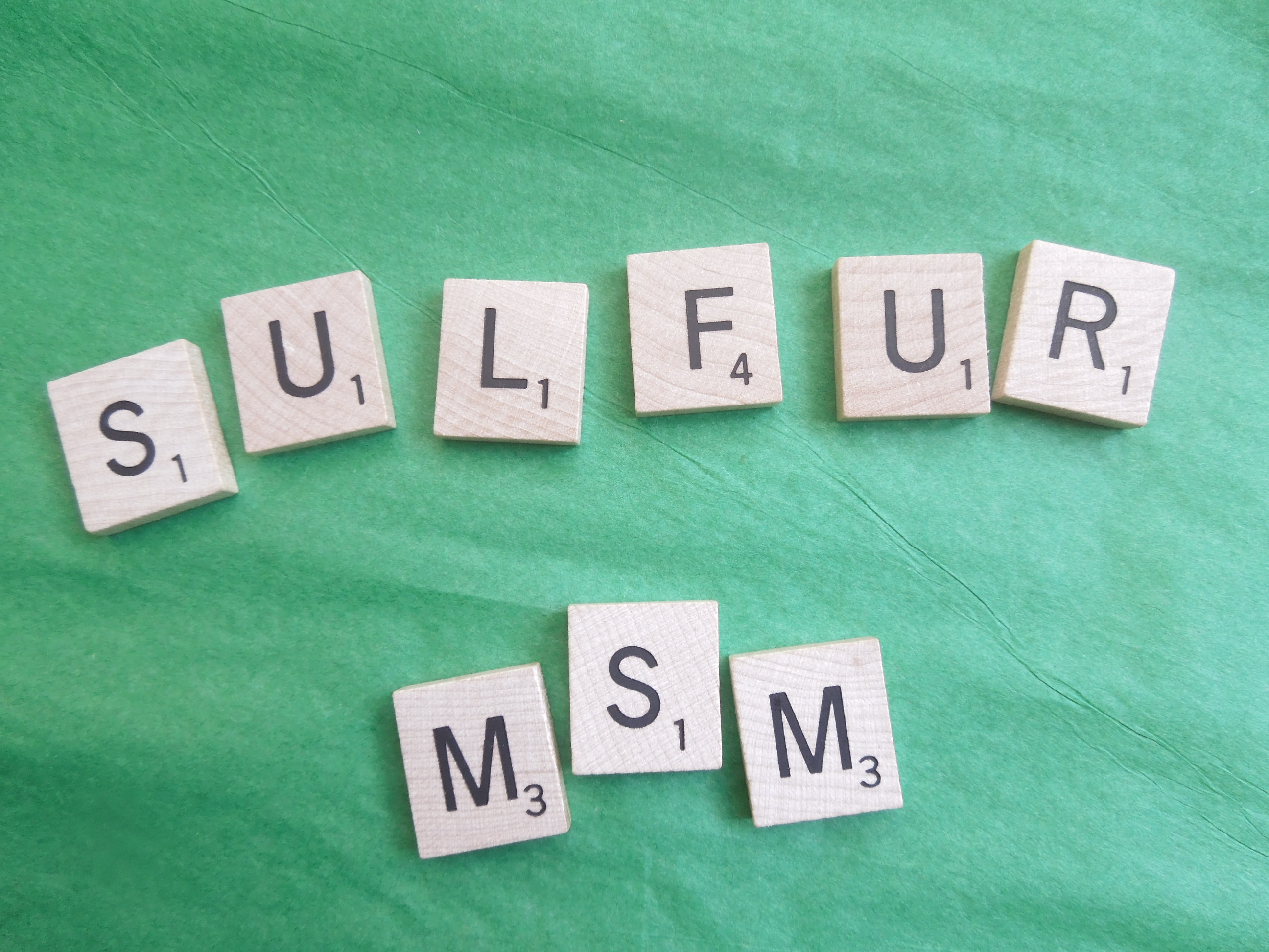 MSM Supplement: the role of sulfur in health and optimal