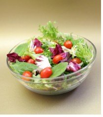 vegetable salad in a glass bowl